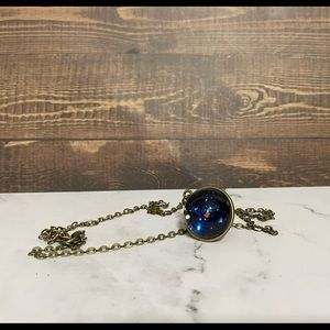NEW space solar system necklace